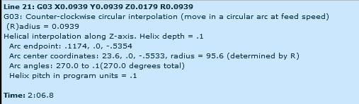 Hint for helical interpolation